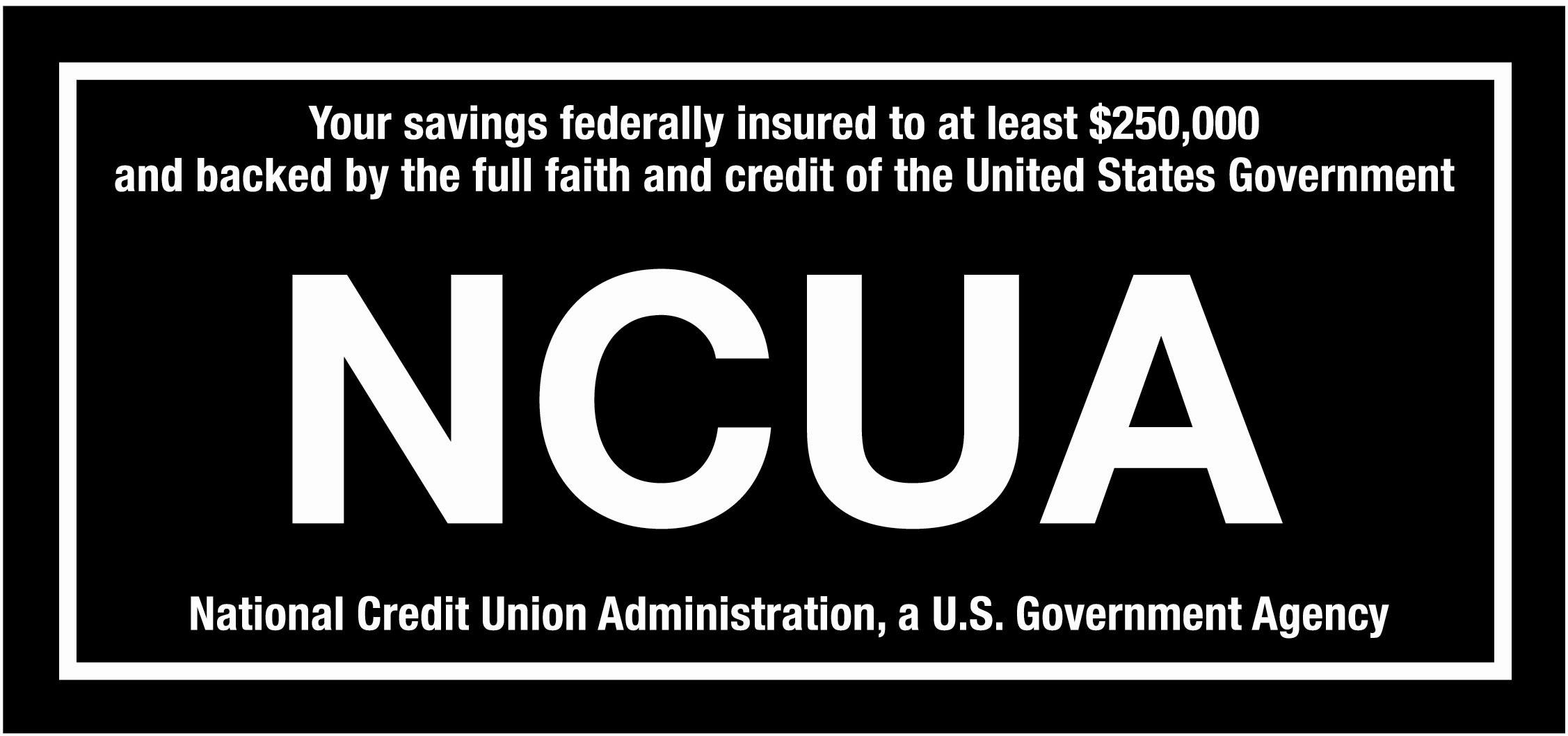 Federally insured up to $250,000 by the National Credit Union Association (NCUA)